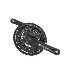 FORCE Fahrradkurbel 3-Fach Krubel für 24, Kinderfahrrad schwarz