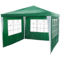 Tectake Pavillon 3 x 3 m inkl. Seitenteile grün