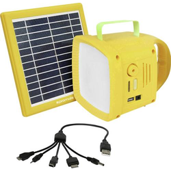 Pro Mate SolarTorch1 SolarTorch-1 LED Camping-Leuchte 90lm akkubetrieben Gelb
