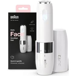 Braun Gesichtshaarentferner FS1000 Face Mini-Haarentferner, Aufsätze: 1, ideal für unterwegs, mit Smartlight