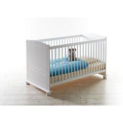 Babybett Gitterbett Adam Kiefer Weiß weiß Gr. 70 x 140