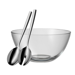 WMF Salat-Set TAVERNO 3 teilig mit Salatschüssel und Salatbesteck mitttel