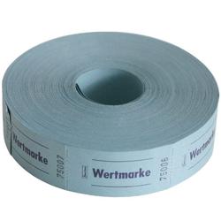 Avery Zweckform Geschirr-Set Wert-Marke 57x30mm 1000 Abrisse pro Rolle versch. (1000-tlg), Papier blau