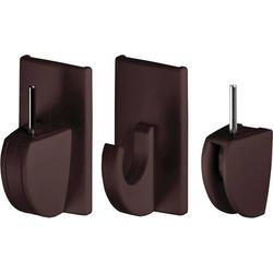 TESA 58047-02-01 Powerstrips® Vario Gardinenhaken Braun Inhalt: 4St.