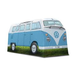 VW Collection by BRISA Hauszelt VW T1 Bulli Bus, Personen: 4 (Außenzelt, Innenzelt, Seile, Heringe, Stangen (16mm Stahl und 13mm Fiberglas), Tragetasche und Aufbauanleitung) blau