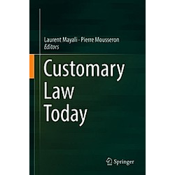 Customary Law Today - Buch