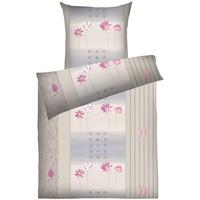 DYCKHOFF Annabell greige/pink 135 x 200 cm + 80 x 80 cm