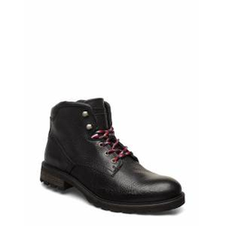 Tommy Hilfiger Winter Textured Leather Boot Schnürstiefel Schwarz TOMMY HILFIGER Schwarz 44,45,41