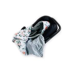 Babydecke Babydecke mit Kapuze Babyschale Wattiert, Universal, 0-6 Monaten oder 0-12 Monaten, BABEES, sehr weich und kuschelig 75 cm x 75 cm