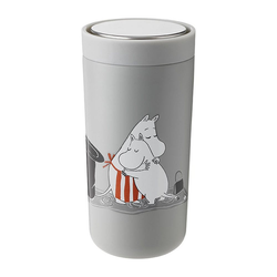 Stelton Coffee-to-go-Becher To Go Click Moomin Soft Light Grey 400 ml
