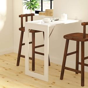 Tische Wandtisch Kleiner Küchentisch, Klapptisch aus Holz, hohe Qualität, stabile stabile Konstruktion, Wandklapptisch for unseren kleinen Ladentisch (Farbe : Weiß, Größe : 75cm×45cm×74cm)