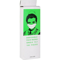 Mundschutz Papiervlies weiß m. Gummibändern