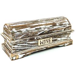 Guru-Shop Aufbewahrungsdose Weinflaschen Holz Box, Geschenkverpackung..