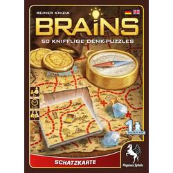 Pegasus - Brains Schatzkarte, 50 knifflige Denk-Puzzles, Denksport