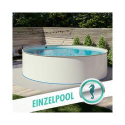Hobby Pool - Pool Ø 3,00 x 1,20 m Folie sand 0,8mm EB, Stahl 0,6mm