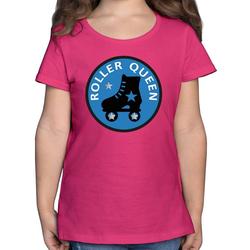 Shirtracer T-Shirt Roller Queen Rollschuh - Vintage - Mädchen Kinder T-Shirt - T-Shirts rollkunstlauf 152 (12/13 Jahre)