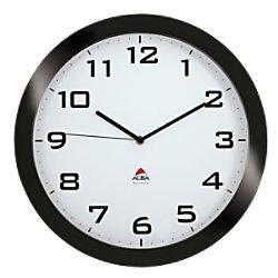 Alba Wanduhr Horissimo N 38 x 5,5 cm Schwarz