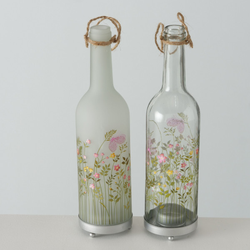 Teelichthalter Flasche ROSALIE (DH 8x29 cm)