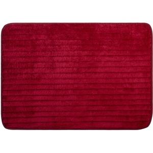 Brandsseller Mikrofaser Badmatte 50x70 cm Home Badteppich Badewannenvorleger Duschvorleger 100% Polyester Rot