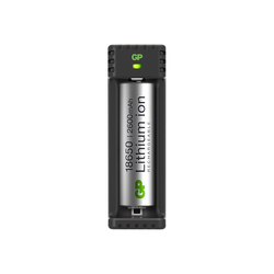 GP Battery GP L111 1-slot USB Charger - Batterieladegerät + Batterie 18650