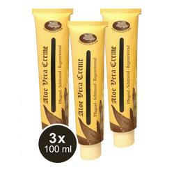 3x 100ml Aloe Vera Hautcreme Regeneration Pflege Schutz Creme Balsam Pullach Hof