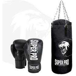 Super Pro Boxsack Boxing Set Punch (Set, mit Boxhandschuhen)