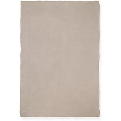 Decke,  100 x 150 cm, Basic knit nougat beige