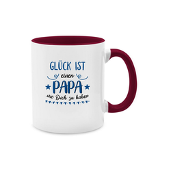 Shirtracer Tasse Glück ist einen Papa wie dich zu haben Dunkelblau - Vatertagsgeschenk Tasse - Tasse zweifarbig - Tassen, vatertagsgeschenk tasse