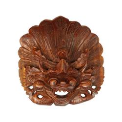 Oriental Galerie Holzbild Maske Wanddeko Garuda Maske Nr. 3, Garuda (1 Stück), Handarbeit