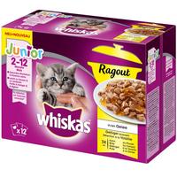 Whiskas Junior Ragout Geflügelauswahl in Gelee 12 x 85 g