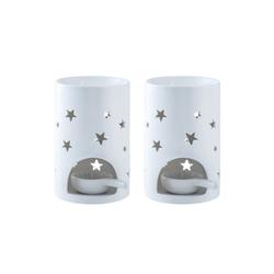 LOVECASA Duftlampe (Set, 2 St), Duftlampe mit Kerzenhalter Ø 9 cm x 9 cm x 14.5 cm x 14.5 cm