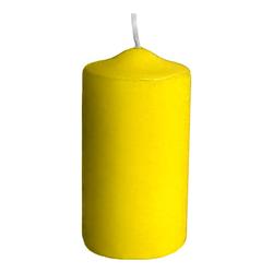 Stumpenkerze Ø 60 x 120 mm, 30 Stunden Brenndauer, gelb