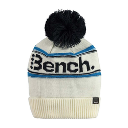 Beanie BENCH - Turn Up Bobble Beanie Tofu (WH11180)