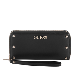 Guess Langbörse Damen Tia SLG Large Zip Around schwarz