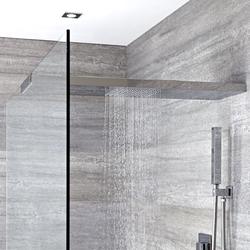 Duschkopf-Duschglaswandhalterung in Kombination 900mm x 250mm - Tratham, von Hudson Reed