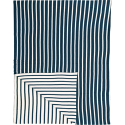 Plaid Arre, Marc O'Polo Home, aus 100% Baumwolle blau