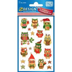 Sticker Weihnacht Papier 1 Bogen Motiv Eulen