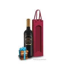 Präsent Rotwein & Schokoladen-Überraschung