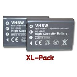 2 x vhbw Akku Set 450mAh für Kamera Sanyo VPC-E10, VPC-E875 wie DB-L70.