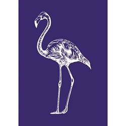 Rayher Siebdruckschablone Flamingo blau