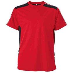 Work T-Shirt - STRONG - (red/black) | James & Nicholson XS