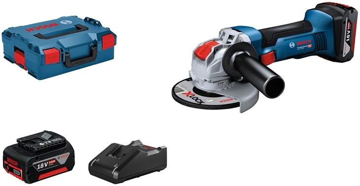 800 W blau ohne Akku, f/ür X-Lock-Zubeh/ör, Scheiben-/Ø: 125 mm, im Karton 18 V Bosch Professional 06019J7001 System Winkelschleifer GWX 18V-8