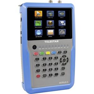 "Telestar 5401253 ""SATPLUS 3"" Messgerät (DVB-S/-S2/-C/-C HD/-T/-T2/H.265/HEVC/SAT-IP, 12,7cm (5 Zoll) LCD-Farbdisplay inkl. Live Bild, 14 Sprachen) silber-blau"