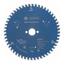 Bosch Kreissägeblatt Expert for Aluminium 165 x 20 x 2,6 mm 52