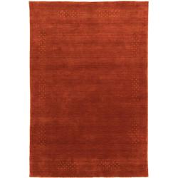 Wollteppich LORIBAFT NOVA, morgenland, rechteckig, Höhe 15 mm, Schurwolle Luxus Bordüre rot 250 cm x 350 cm x 15 mm