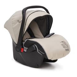 Moni Babyschale Kindersitz, Babyschale Sarah Gruppe 0+, 3 kg, (0 - 13 kg) mit Fußabdeckung natur