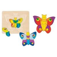 GoKi Schichtenpuzzle Schmetterling (57899)