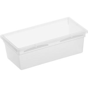 Rotho BASIC Schubladen-Ordnungssystem, transparent, Schubladen-Ordnungssystem aus Kunststoff , Maße: 150 x 80 x 50 mm