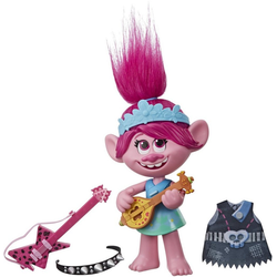 Hasbro Anziehpuppe DreamWorks Trolls World Tour, Pop & Rock Poppy (Set, 6-tlg), mit Sound
