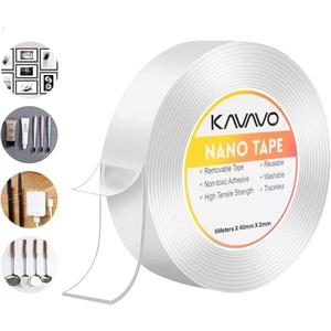 600 cm*40 mm Nano Klebeband,Doppelseitiges Klebeband Extra Stark Magisch Nano Doppelseitige Klebebänder Transparent Ablösbar Klebestreifen Doppelseitig Spurloses Waschbares Klebeband für Teppich